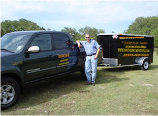 Shawn Hickman of Southern Comfort A/C Services with Trailer